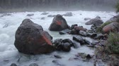 булыжник : Stones covered with red moss on the river Akkem River, Altai Mountains, Russia