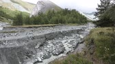 riverbank : Yarlu River flowing into the gorge, Altai Mountains, Russia