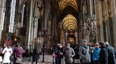 catholic church : VIENNA, AUSTRIA - JANUARY 21, 2019 : Interior of St. Stephans Cathedral in Vienna. Stephansdom, Wien