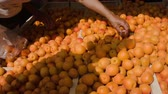 apricot : Countertop with ripe apricots at the farmers market