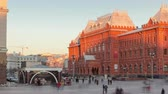 denominou : Museum of the Patriotic War of 1812at the Red Square of Russia in Moscow before sunset timelapse hyperlapse 4K Stock Footage