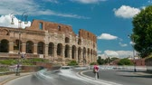 flavian : The Colosseum or Coliseum timelapse, also known as the Flavian Amphitheatre in Rome, Italy