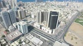 sharjah : Cityscape of Ajman with modern buildings aerial top view