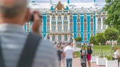 taşra : The Catherine Palace timelapse is a Rococo palace located in the town of Tsarskoye Selo Pushkin Stok Video