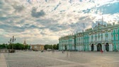 campanário : Sight-seeing Winter palace of Russian kings now Art museum Hermitage timelapse. St. Petersburg, Russia