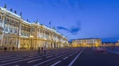official visit : Winter Palace in Saint Petersburg timelapse hyperlapse