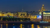 escarlate : Timelapse over the city of St. Petersburg Russia on the feast of Scarlet Sails, view from roof. Vídeos