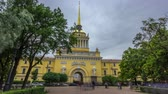 campanário : The Admiralty building timelapse hyperlapse. Saint Petersburg, Russia