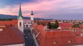 Капитолий : Church of St. Mark day to night timelapse and parliament building Zagreb, Croatia.