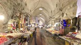 kereskedés : The colorful souk in the old city of Jerusalem Israel timelapse hyperlapse