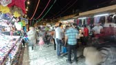souk : The colorful souk in the old city of Jerusalem Israel night timelapse