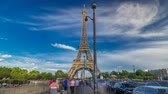 seine : Eiffel Tower view from the Bridge of Jena timelapse hyperlapse, Paris, France