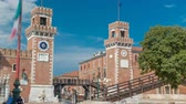 arsenal : Entrance to the Arsenale timelapse, Venice, Veneto, Itlay