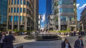 tényleges : Fountain timelapse hyperlapse on White Square near Office Center located in heart of Moscow, Russia