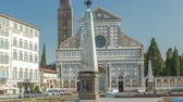 kult : Basilica of Santa Maria Novella in the homonym square timelapse in Florence