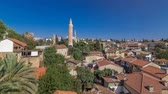 рифленый : Red tile roofs of the Antalya Old Town timelapse hyperlapse, Turkey