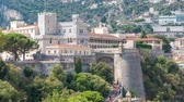 artilharia : Princes Palace of Monaco timelapse with observation deck - It is the official residence of the Prince of Monaco.