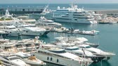 seeker : Mediterranean sea, boats and Monaco yacht club timelapse in Monte Carlo district, Monaco Stock Footage
