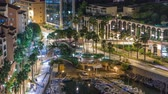 elite : Panoramic view of Fontvieille night timelapse - new district of Monaco.