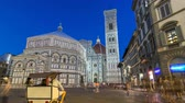 Мария : Basilica di Santa Maria del Fiore and Baptistery San Giovanni in Florence day to night timelapse Стоковые видеозаписи