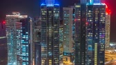 helipad : The skyline of the West Bay area from top in Doha timelapse, Qatar. Stock Footage