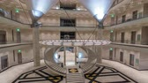 mia : Inside view of the iconic Museum of Islamic Art building timelapse hyperlapse. Stock Footage