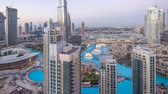 emirados Árabes unidos : Dubai downtown day to night timelapse Vídeos