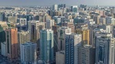 binário : Aerial skyline of Abu Dhabi city centre from above timelapse Stock Footage