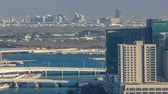 mariah : Aerial skyline of Abu Dhabi city centre from above timelapse Stock Footage