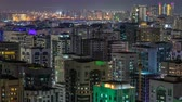 binário : Aerial skyline of Abu Dhabi city centre from above night timelapse