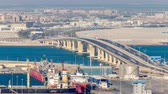 saadiyat : New Sheikh Khalifa Bridge in Abu Dhabi timelapse, United Arab Emirates