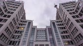 takviye edilmiş : State Industry Building the Palace of Industry or Gosprom timelapse hyperlapse Stok Video