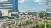 mrt : Jurong East Interchange metro station aerial timelapse, one of the major integrated public transportation hub in Singapore