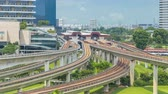 jurong : Jurong East Interchange metro station aerial timelapse, one of the major integrated public transportation hub in Singapore