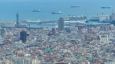 port of barcelona : Panorama of Barcelona timelapse, Spain, viewed from the Bunkers of Carmel Stock Footage