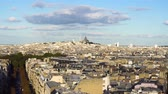 vertical : cityscape of Paris Mont Matre hill, France