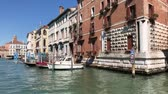 benátky : view of Venice houses over water of Grand canal, view from the water, Italy Dostupné videozáznamy