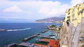 neapol : embankment and beach of Sorrento at summer, southern Italy