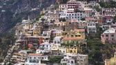 Positano town houses on the rock - famous old italian resort, Italy