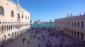 marco : palace Ducale and square of San Marco, Venice, Italy Stock Footage