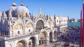 marco : cathedral church and square of San Marco, Venice, Italy, timelaps Filmati Stock