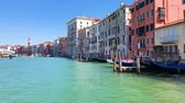 view of Venice historical town from the water, Italy