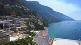 Positano town on the rock - famous old italian resort, Italy Vídeos