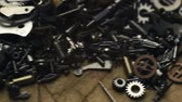 clock : Small mechanical gears Stock Footage