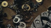 cog : Small mechanical gears Stock Footage