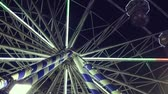 carrossel : Ferris wheel in amusement park at night