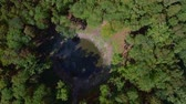 universe : Aerial view of Kaali crater. Saaremaa, Estonia