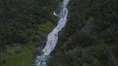 ocidental : Beautiful aerial view on Hjellenfossen waterfall, Utladalen, Ardal, Norway.