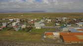 nórdico : Aerial view of an Eyrarbakki village, Iceland.