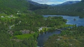 escandinávia : Aerial view of Lotevatnet lake in Norway